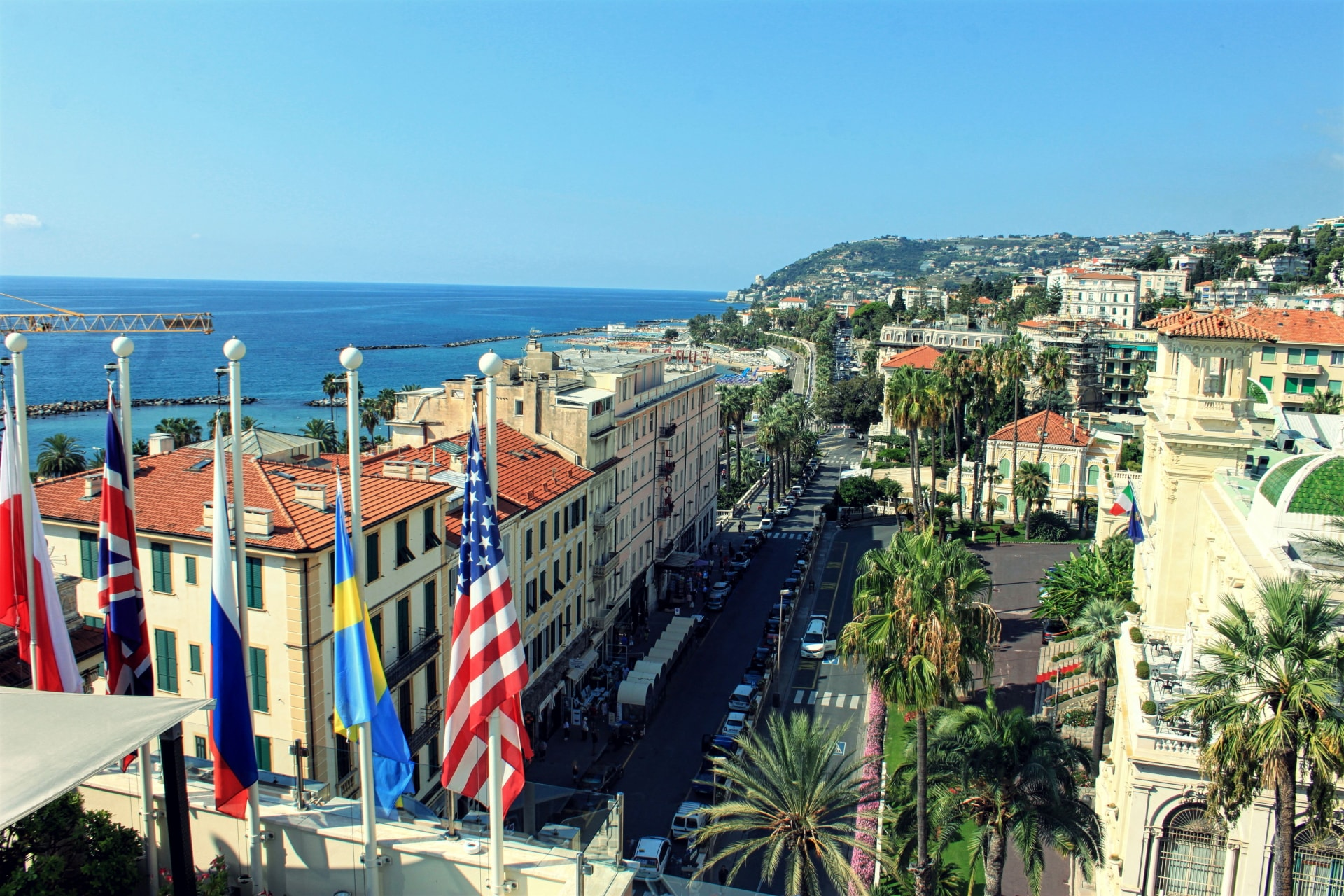 Sanremo seen from Hotel Nazionale Best Western